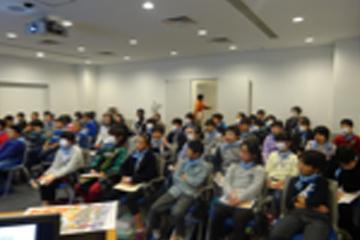 防災体験学習にきた小学生を対象にした「防災語り部」講座